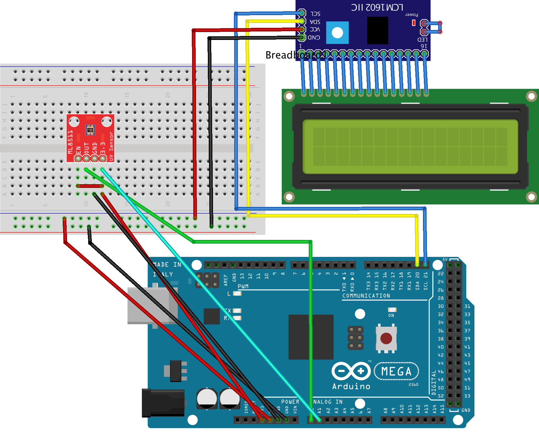 ACTIVITY 15 - LCD DISPLAY AND UV SENSOR - Internet of Things (IoT)